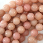 "Pink Opal Round Beads Gemstone 15.5"" Strand A grade 4mm 6mm 8mm 10mm 12mm"