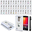 For LG Spirit H443 Escape 2 2nd Gen 2015 Crystal Sparkle HYBRID Case Cover + Pen