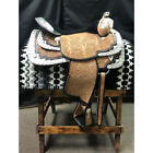 7784-008 Dale Chavez Rio Light Oil Black Accent Western Show Saddle 16 Inch NEW