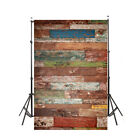 US Newborn Baby Photo Props Blanket Rug Vintage Wooden 3x5 Photography Backdrops