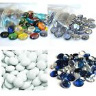 100 Decorative Glass Pebble Stones Beads Vase Nuggets Wedding Decoration