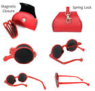 Round Portable Foldable Full Lens Reading Sunglasses with Compact Soft Cases