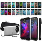 "For Motorola Moto G6 Plus 6"" Shockproof Brushed Hybrid Phone Cover Case + Pen"