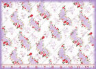 Chanteclaire LE PETITE JARDIN PINK ROSES Floral Cotton Quilting Fabric 2-3 yds