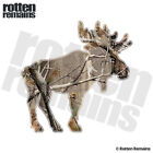Moose Decal Hunting Camo Camouflage Bow Hunter Gloss Sticker (RH) HVG