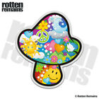 Mushroom Psychedelic Peace Decal World Earth Hippie Love Gloss Sticker HVG