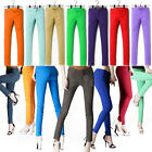 Womens Skinny Slim Leggings Stretchy Jeans Pencil Pants Candy Jeggings Trousers