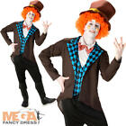 Mad Hatter Mens Fancy Dress Fairytale Book Day Week Character Adults Costume New