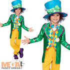 Mad Hatter Boys Fancy Dress World Book Day Childrens Alice in Wonderland Costume
