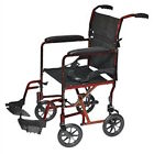 """Probasics Aluminum Transport Wheel Chair with 8"""" Rear Wheels - 3 Colors Choices"""
