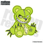Zombie Teddy Bear Decal Green Dead Cute Zombies Gloss Sticker (RH) HVG