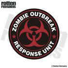 Zombie Outbreak Response Unit Red Decal Control Team Gloss Sticker HVG