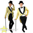 GOLD SEQUIN TAILCOAT DANCE COSTUME UNISEX MENS LADIES FANCY DRESS CABARET SHOW