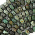 """Faceted African Turquoise Rondelle Beads 15"""" 3x4mm 4x6mm 5x8mm 6x10mm 8x12mm"""