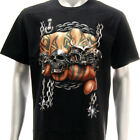 r82 Rock Eagle T-shirt Tattoo Skull Punch Chain Fist Ghost Knuckle Fighter Fancy