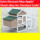 X-LARGE Chicken Coop , Rabbit Guinea Pig Hutch Ferret Chook House with Wheels