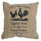 Rooster Pig or Cow Farm Feedsack Pillow 10 x 10 Country Primitive Rustic Choice