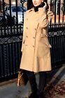 Karen Millen CW360 Beige Wool Rich Trench Military Wrap Winter Coat 14 42 New