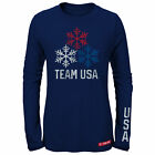 Team USA Olypmic Winter Games Women's Long Sleeve Shirt Snowflake