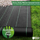 4m Wide Woven Weed Control Landscape Fabric with Pegs