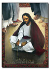 Wood Plaque/Icon - Religious Art - Jesus Writing In The Sand by Lewis Williams
