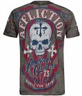 Affliction HELL RIDERS Burnout T-Shirt L XL 2XL NWT NEW Skull Black XXL