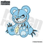 Zombie Teddy Bear Decal Blue Dead Cute Zombies Gloss Sticker (LH) HVG