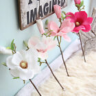 1pc Artificial Magnolia Blossom Silk Flower for Wedding Home Garden Decoration