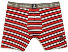 Psycho Bunny Men's Red Pompeii Multi Stripe Boxer Brief