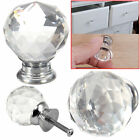 4/6/8/10/12/16 Clear Crystal Diamond Glass Door Knobs Cabinet Drawer Handle Knob