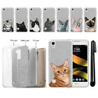 For LG Tribute HD LS676 X Style Cat Slim Sparkling Silver TPU Case Cover + Pen