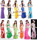 Brand New Sexy Belly Dance 2 Pcs Costume Bra & Skirt 11 Colours Available