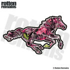 Pink Camo Horse Decal Hunting Camouflage Pony Mustang Gloss Sticker (RH) HGV