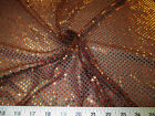 Fabric Stretch Glitter Mesh Sequin Dots Black and Copper Sheer Sparkle L51