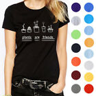 """Mens Casual T-Shirts """"plants are friends""""Printed Lovers Short Sleeve Tops"""