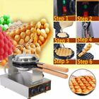 220V 1.4KW Electric Egg Cake Oven Iron Puff Waffle Bread Bake Crispy Machine Hot