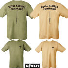 Mens Army Tactical Military Royal Marines Commando Tshirt Olive Green Beige Sand
