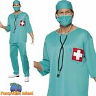 Surgeon Uniform Green Hospital Medical Doctor Emergency Mens Fancy Dress Costume