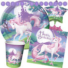 UNICORN FANTASY Birthday Girl Party Range - Tableware Balloons & Decorations(CP)
