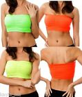 Neon Bandeau/Tube Top Foam Bra Lined OS 3 Colors / Select 1