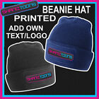 X10 BEANIE HATS PERSONALISED WITH YOUR OWN LOGO / TEXT BUSINESS WORK WEAR