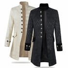 Luxury Men Up Collar Long Jacket Coat Gothic Steampunk Aristocracy Party Outwear