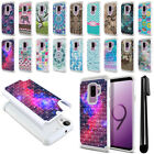 "For Samsung Galaxy S9 Plus / S9+ 6.2"" Studded Bling HYBRID Case Cover + Pen"