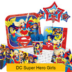 DC SUPER HERO GIRLS Birthday Party Range Tableware Balloons & Decorations {1C}