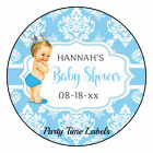 Prince Baby Shower Birthday Party Favor Round Labels Stickers
