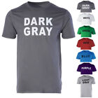 MENS WOMENS CASUAL COMFY COLOUR PRINTED T-SHIRT SPORT TOPS COTTON CREW NECK TEE