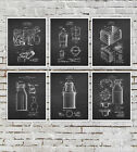 Farmhouse Art Decor set of 6 unframed Dairy Cow Milk Can Patents