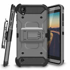 For HTC Desire 530 Hybrid Shockproof Kickstand Case Holster Belt Clip Cover