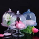 12 Clear Mini Cake Stand Cupcake box Wedding Party Shower Plastic Candy Box Hot