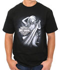 Harley-Davidson Mens Sketch Pinup 2 Black Short Sleeve Biker T-Shirt $9.99 USD